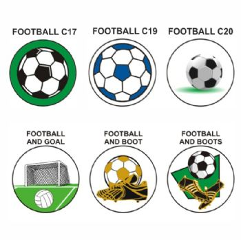 Football A pk of 5 25mm centres-
